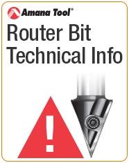 Router Bit Technical Information